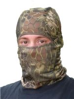 CAGOULE - MASQUE MODULABLE 1 TROU 100% POLYESTER FIN CAMOUFLAGE MANDRA WOOD