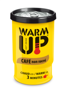 BOISSON EN CANETTE  AUTO CHAUFFANTE WARM UP 200 ML - CAFE NON SUCRE - LOT DE 6 CANETTES
