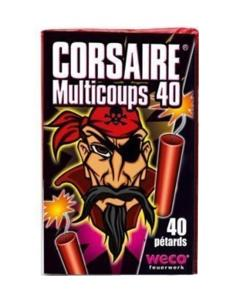 CORSAIRE MULTICOUPS 40 - PAQUET DE 40 MINI PETARDS LIES EN BATTERIE WECO