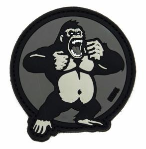 ECUSSON / PATCH 3D PVC VELCRO KING KONG GRIS