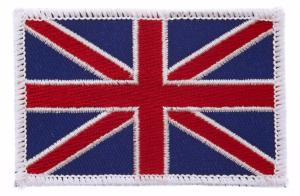 ECUSSON OU PATCH DRAPEAU UK ROYAUME UNI BRODE THERMO COLLANT