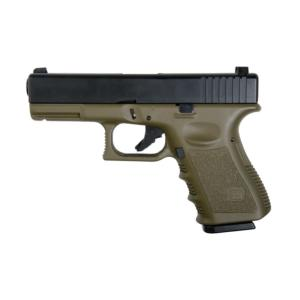G23 KJ WORKS OD GREEN GAZ BLOWBACK HOP UP 0.8 JOULE AVEC RAIL
