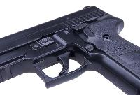 KP-02 P229 KJ WORKS NOIR GAZ BLOWBACK HOP UP AVEC RAIL 0.9 JOULE