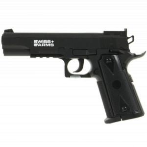P1911 MATCH SWISS ARMS CO2 4.5 MM ABS SEMI AUTO 2 JOULES