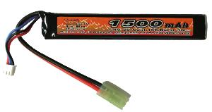 BATTERIE LIPO 7.4V 1500 MAH 15C/BURST 30C 1 STICK VB POWER