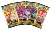 PACK 3 BOOSTERS DE 10 CARTES POKEMON - EPEE ET BOUCLIER EB03 - TENEBRES EMBRASEES + UNE CARTE BRILLANTE EVOLI ET UNE PIECE POKEMON