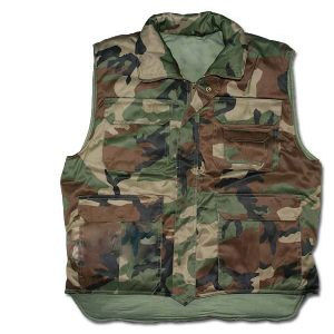 GILET / VESTE MOLLETONNE MULTI POCHES CAMOUFLAGE CENTRE EUROPE TAILLE M