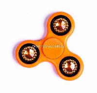 HAND SPINNER / TOUPIE A MAIN EN PLASTIQUE ET METAL BIJOUX ORANGE