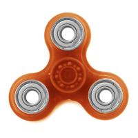 HAND SPINNER / TOUPIE A MAIN EN PLASTIQUE ET METAL TRANSPARENT UNI COULEUR ORANGE