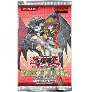 BOOSTER DE 6 CARTES SUPPLEMENTAIRES YU GI OH SOBRE DE DUELISTA JADEN YUKI 2 VERSION ESPAGNOL