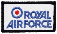 PATCH / ECUSSON TISSU THERMOCOLLANT RECTANGULAIRE ROYAL AIR FORCE AVEC COCARDE