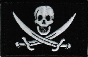 ECUSSON OU PATCH DRAPEAU PIRATE JACK RACKHAM BRODE THERMO COLLANT