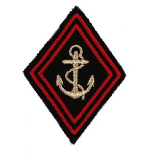 ECUSSON / PATCH LOSANGE TDM TROUPES DE MARINE DORE ROUGE A SCRATCH