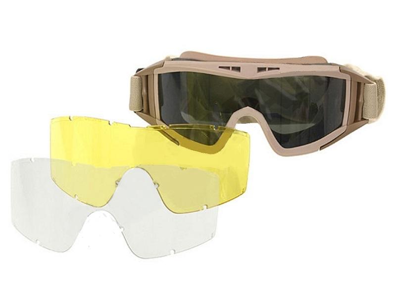 masque lunette protection vert olive ecran blanc fume. Black Bedroom Furniture Sets. Home Design Ideas