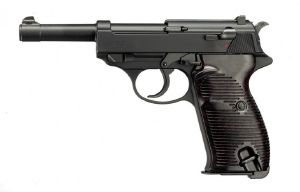 P38 WALTHER BICOLORE GAZ BLOW BACK SHOOT UP UMAREX 0.8 JOULE