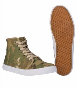PAIRE DE CHAUSSURES MONTANTES CAMOUFLAGE MULTITARN TAILLE 39