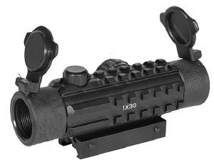 RED DOT SIGHT 1 X 30 VISEE POINT ROUGE ET VERT 3 RAILS