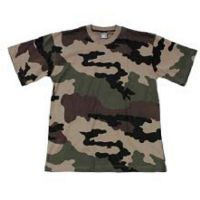 TEE SHIRT CAMOUFLAGE ENFANT COL ROND ET MANCHES COURTES TAILLE 10-12 ANS