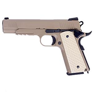 1911 KIMBER STYLE TAN WE GAZ BLOW BACK FULL METAL SEMI AUTO HOP UP 0.8 JOULE