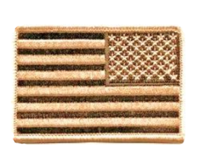 ECUSSON / PATCH DRAPEAU US DESERT UNITED STATES INVERSE THERMO COLLANT