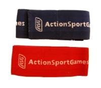 BRASSARD ELASTIQUE ROUGE SIGLE ASG ACTION SPORT GAMES