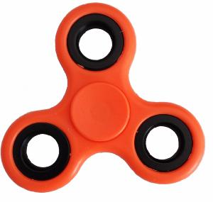 HAND SPINNER / TOUPIE A MAIN EN ABS UNI COULEUR ROUGE INFINITY TWISTER