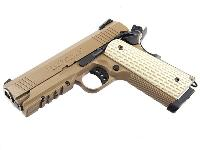 M1911 CUSTOM WARRIOR GAZ BLOW BACK 1 JOULE TAN MARUI AVEC RAIL
