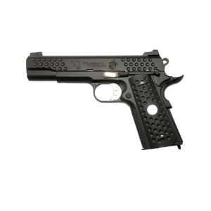 WE 1911 KAC KNIGHTHAWK NOIR GAZ BLOW BACK FULL METAL SEMI AUTO HOP UP 0.8 JOULE