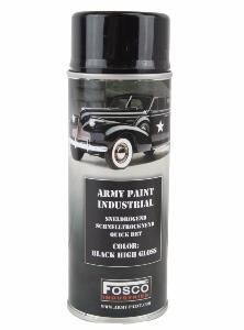BOMBE DE PEINTURE MILITAIRE SPRAY FOSCO 400 ML GLOSS BLACK NOIR BRILLANT