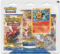 PACK 3 BOOSTERS AVEC UNE CARTE NEMELIOS ET UNE PIECE POKEMON XY09 RUPTURE TURBO