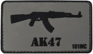ECUSSON / PATCH 3D PVC VELCRO FUSIL D'ASSAUT AK47 101 INC GRIS ET NOIR AIRSOFT