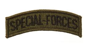 ECUSSON / PATCH SPECIAL-FORCES VERT ET NOIR FORCES SPECIALES AMERICAINE THERMO COLLANT AIRSOFT