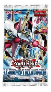 1 BOOSTER DE 9 CARTES SUPPLEMENTAIRES YU GI OH LE JUGEMENT DE LA LUMIERE