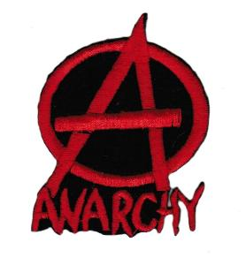 ECUSSON OU PATCH ANARCHY ROUGE ET NOIR BRODE THERMO COLLANT