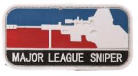 ECUSSON / PATCH 3D PVC VELCRO MAJOR LEAGUE SNIPER BLEU BLANC ET ROUGE