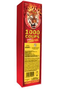 1000 COUPS - CHAINE DE 1000 PETARDS A MECHE LE TIGRE PYRAGRIC RELIES EN BATTERIE
