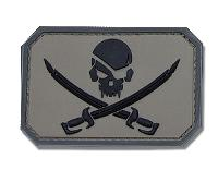 ECUSSON / PATCH RECTANGULAIRE PIRATE SKULL ACU DARK A SCRATCH MSM