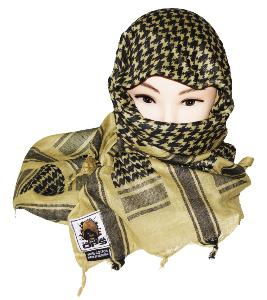 SHEMAGH / KEFFIEH / CHECHE / FOULARD AFGHAN TACTICAL OPS 100% COTON TAN 100 X 100 CM
