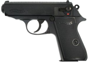 WALTHER PPK/S METAL SLIDE NOIR SPRING SHOOT UP 0.5 JOULE