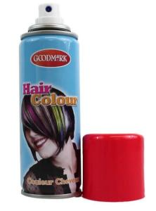 BOMBE SPRAY AEROSOL COULEUR CHEVEUX ROUGE 125 ML