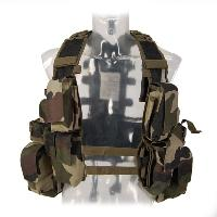 GILET VESTE TACTIQUE DE COMBAT RSA CAMO CENTRE EUROPE 12 POCHES