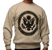 SWEAT SHIRT GRINE CHINE IMPRIME LOGO US ARMY TAILLE M