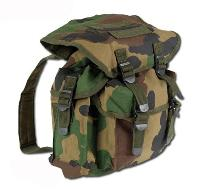 SAC A DOS 15 LITRES ESPRIT MILITAIRE US CAMOUFLAGE WOODLAND
