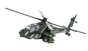 HELICOPTERE MILITAIRE WOODLAND A FRICTION AH-65D SUPER WEAPONS APACHE