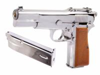 WE BR-NING CHROME GAZ BLOWBACK SEMI AUTO 0.9 JOULE