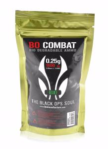 SACHET DE 1800 BILLES BLANCHES BIODEGRADABLE DE 0.25 g  BO COMBAT