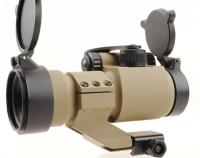 RED DOT SIGHT TAN 1 X 30 VISEE POINT ROUGE ET VERT AVEC ANNEAU DE MONTAGE SURELEVE