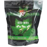 BILLES KING ARMS 3600 X 0.28 G BLANCHES BIO DEGRADABLE EN SACHET
