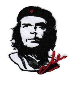 ECUSSON OU PATCH CHE GUEVARA NOIR ET BLANC BRODE THERMO COLLANT