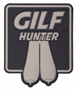 PATCH / ECUSSON 3D PVC VELCRO GILF HUNTER NOIR ET GRIS